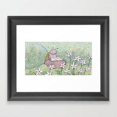 Mini White Stars Framed Art Print