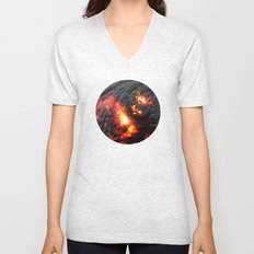 Flaming Seashell 4 Unisex V-Neck