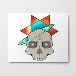 Star skull Metal Print