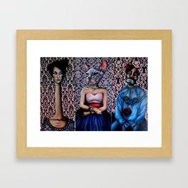 Circus people Framed Art Print