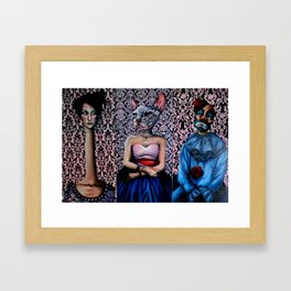 Circus people Framed Art Print
