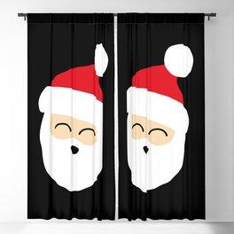 Smiling Santa Face Blackout Curtain