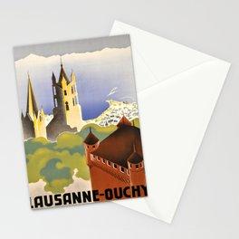 Wanderlust lausanne ouchy suisse schweiz Stationery Cards