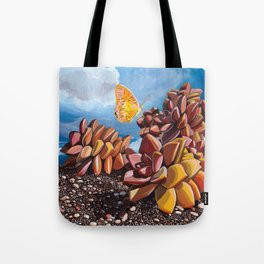 Butterfly + Graptosedum Tote Bag