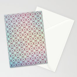 Pink and Blue Gradient Geometric Stationery Cards