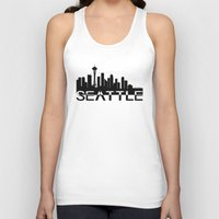 seattle Tank Tops featuring Seattle by Allison Kiloh