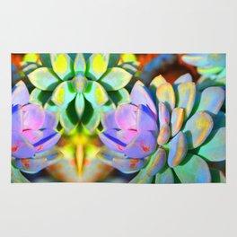 Succulent Color - Botanical Art by Sharon Cummings Rug