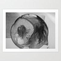 ying yang Art Prints featuring Ying Yang by MarianneVidal
