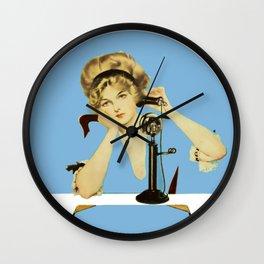 "C Coles Phillips 'Fadeaway Girl' ""Long Distance Call"" Wall Clock"