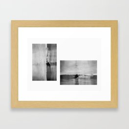 Yellowstone Double Exposure 35mm Framed Art Print