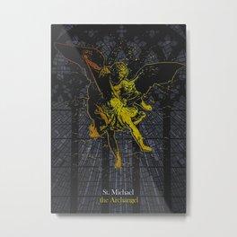 St Michael The Archangel Metal Print