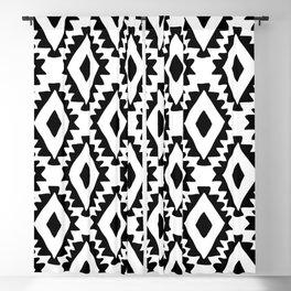 Aztec geometrics - B&W Blackout Curtain