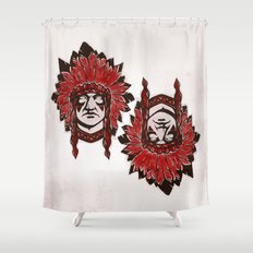 faceless (Indian) Shower Curtain