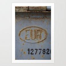 EUR Art Print
