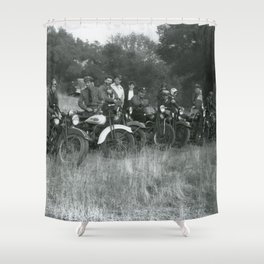 1941 Vintage Motorcycle Series Shower Curtain