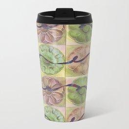 Ribbon Pattern Metal Travel Mug