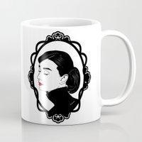 hepburn Mugs featuring Audrey Hepburn  by Pendientera