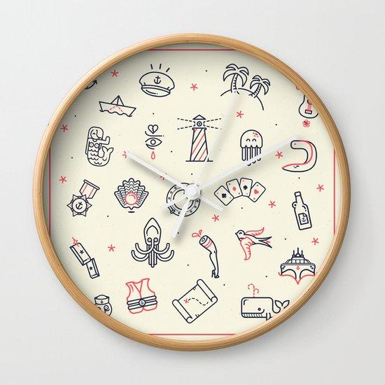 Ahoy! Icons Wall Clock