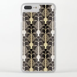 Art Deco black/gold Clear iPhone Case