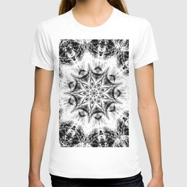 Atomic Black Center Swirl Mandala T-shirt