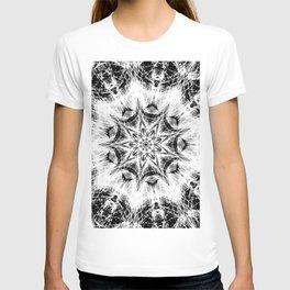 Atomic Black Center Swirl Mandala T-shirt