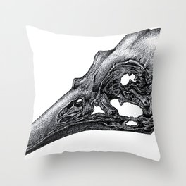 Bird Skeleton Throw Pillow