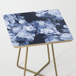 Denim and Roses Side Table