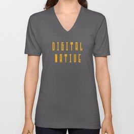 Digital Native Heart for Nerds or Pixel mothers Unisex V-Neck