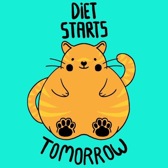 Diet Starts Tomorrow! Duvet Cover