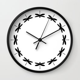Bugs: abstract Dragonfly Wall Clock