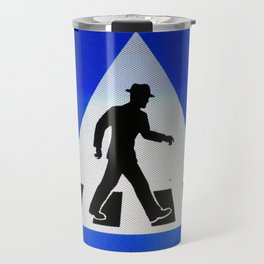Well Dressed Man Crossing Travel Mug
