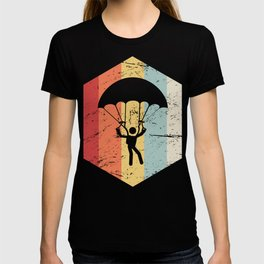 Retro 70s Skydiving Parachute Icon T-shirt