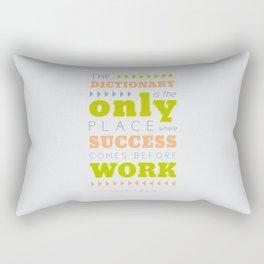 Work Before Success - Mark Twain Quote Rectangular Pillow