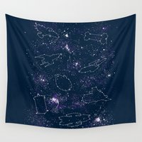ships Wall Tapestries featuring Star Ships by Mandrie