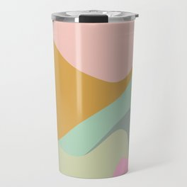 Abstract Mountain Landscape in Pastel Colors Travel Mug