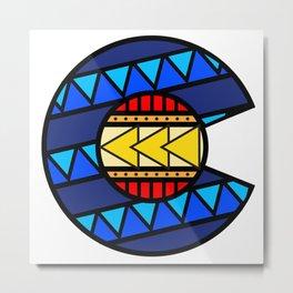 Tribal Colorado Flag: True Color Metal Print