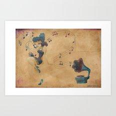 charleston dancer - large Art Print