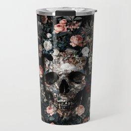 Skull and Floral pattern Travel Mug