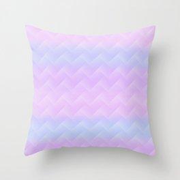 Chevron Candy floss Throw Pillow