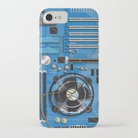 computer iPhone & iPod Cases featuring Computer Motherboard by Nick's Emporium Gallery