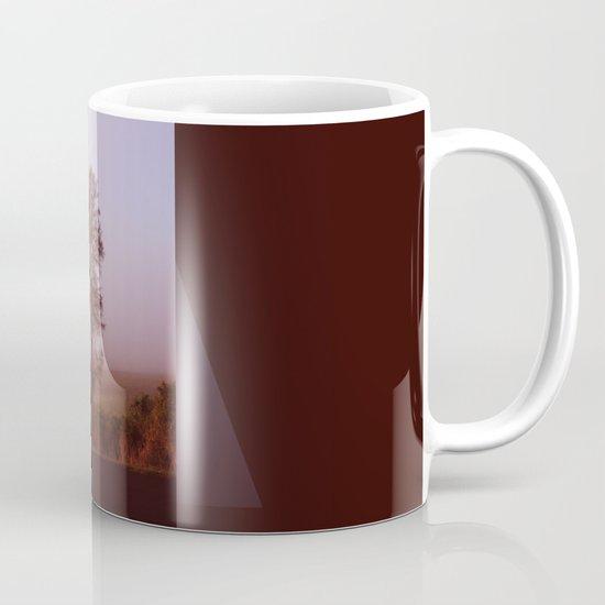 Standing alone in the fog Coffee Mug