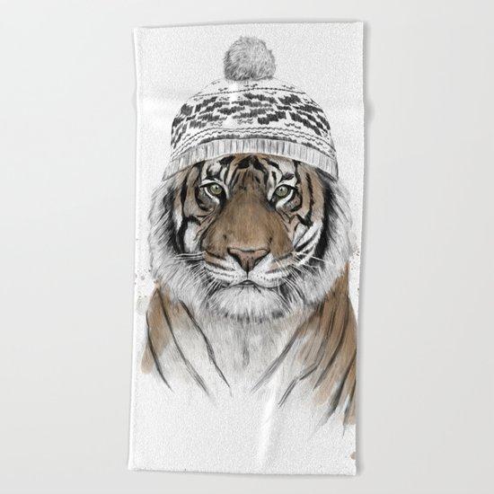Siberian tiger Beach Towel