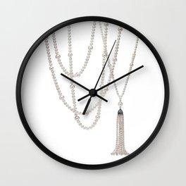 White Pearl Wall Clock