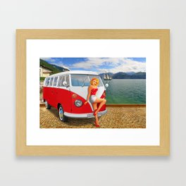 Holiday on Lake Garda in 1959 Framed Art Print