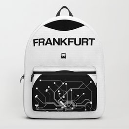 Frankfurt Black Subway Map Backpack