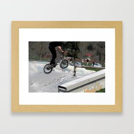 """Getting Air"" - BMX Rider Framed Art Print"
