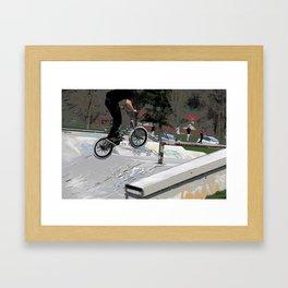 """Getting Air"" - BMX Rider Framed Art Print"