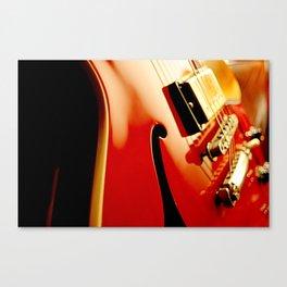 Jazz Guitar Closeup Canvas Print