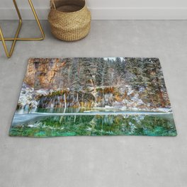 A Serene Chill Hanging Lake Winter Rug