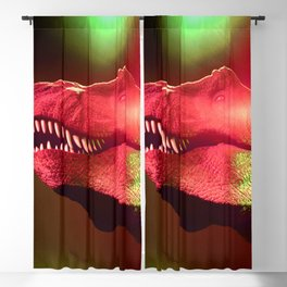 T-Rex Disco King Green & Strawberry Red Blackout Curtain